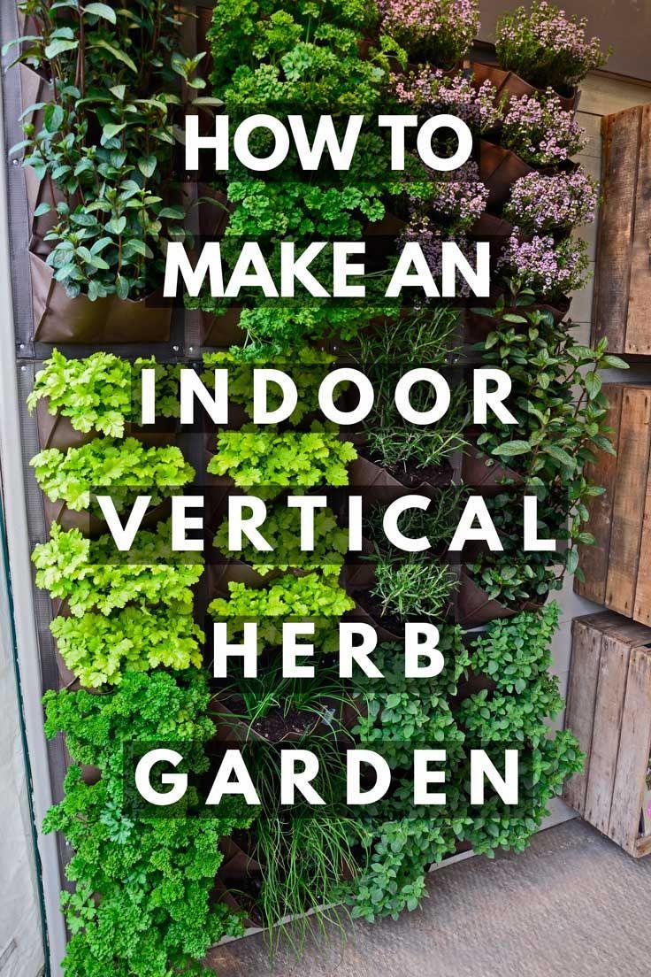 How to Make an Indoor Vertical Herb Garden - Garden Tabs