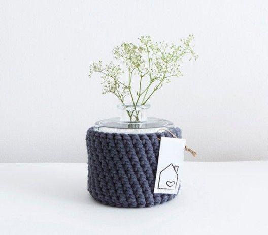 Tricoter un cache pot