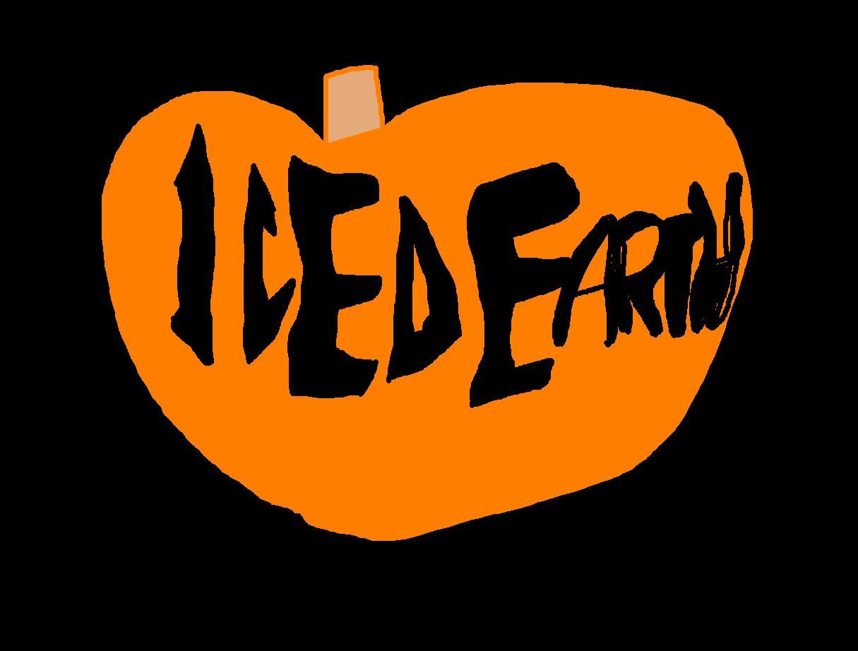 an Iced Earth pumpkin design I drew on my Paint program.. appropriate of course, since Iced Earth usually releases their new album in October, and their music goes good with Halloween