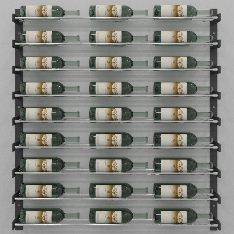 Idora 27 Bottle Wall Mounted Wine Bottle Rack Wall Mounted Wine Rack Wine Wall Bottle Wall