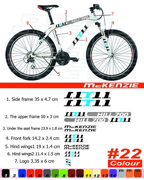 McKENZIE Bike Frame Sticker/Autocollant Bicycle/Mountain