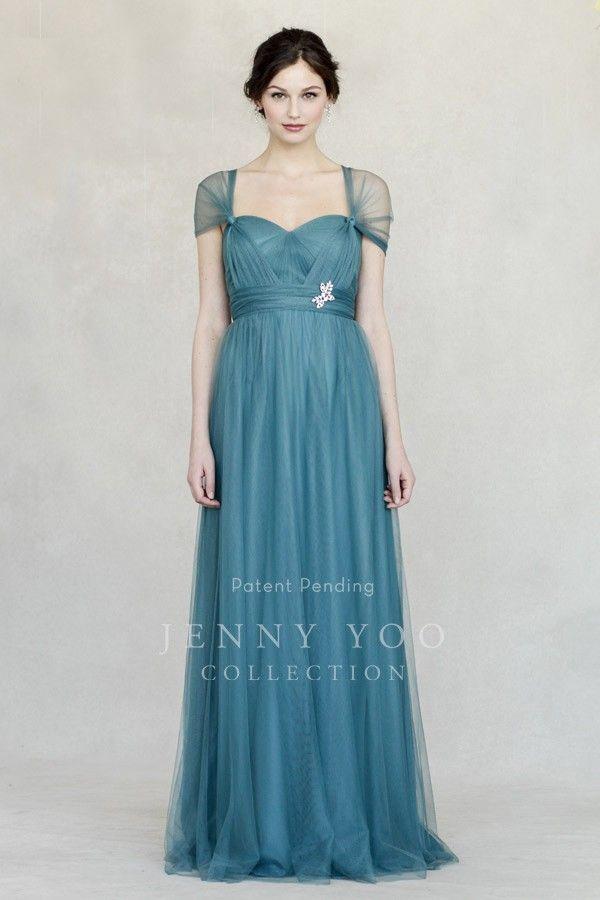 Jenny Yoo: Annabelle - Soft Tulle, Vintage Teal | Brianna\'s Wedding ...
