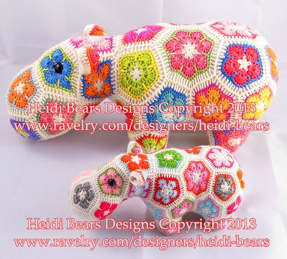 Thandi The African Flower Rhino Crochet Pattern Crochet