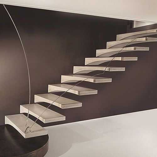 Suspended Style 32 Floating Staircase Ideas For The: FREITRAGENDE TREPPE MÖWENFLÜGEL