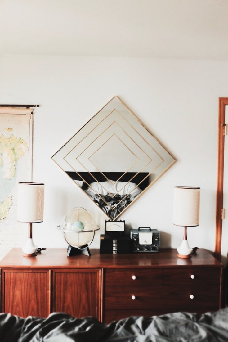 Brass mirrors midcentury modern furniture fall decor trends