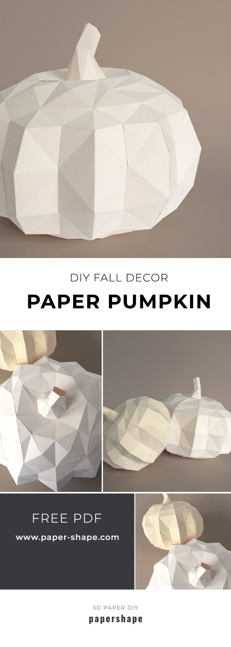 How Do I Make A Modern 3d Pumpkin From Paper Free Template Fetes