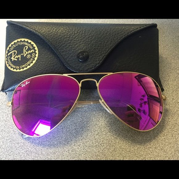 45999b2d5c8 Ray-Ban Purple Mirror Original Aviator RB3025 58 Ray- Ban Purple Mirror  Original Aviator RB3025 58. Perfect condition