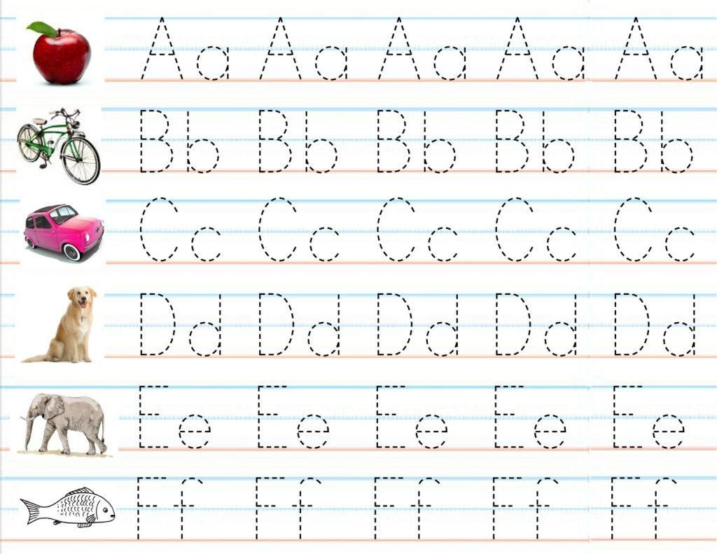 Alphabet Writing Template For Kindergarten In
