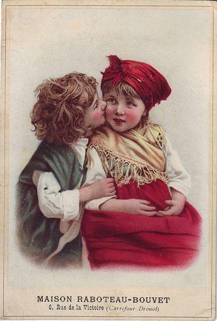 CHROMO MAISON RABTEAU-BOUVET - BOY KISSING GIRL - VERGER | Flickr - Photo Sharing!