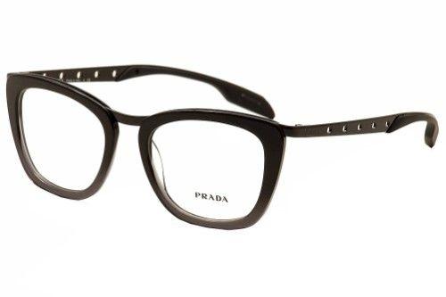 Prada Women\'s Eyeglasses VPR60R VPR/60R TV7-1O1 Black/Grey Optical ...