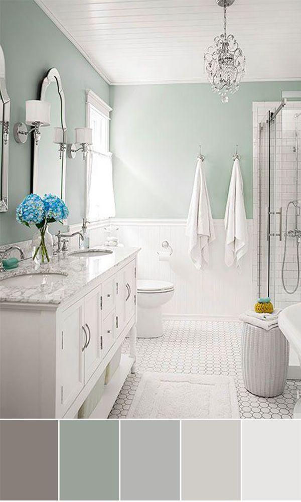 Bathroom Paint Colors Ideas For Bathroom Decor With Images Bathroom Color Schemes Bathroom Remodel Master Bathroom Layout