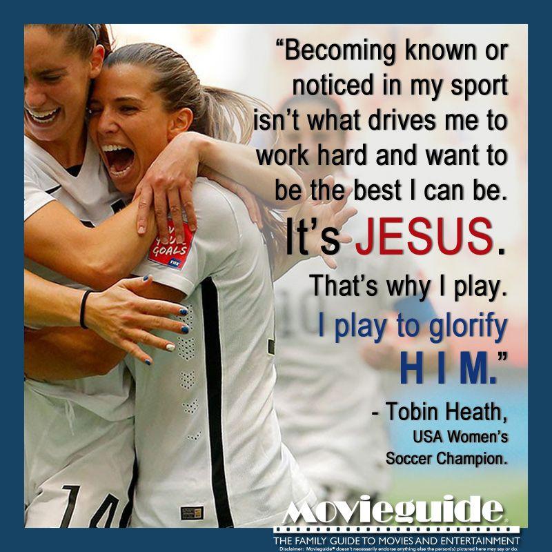 AMEN!! Tobin Heath is a great role model