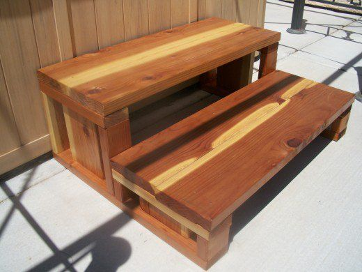 Best How To Build Redwood Spa Steps Hot Tub Steps Wood 640 x 480