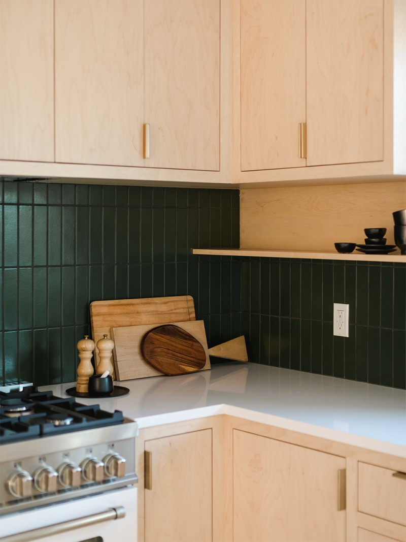 These Designers Came Up With A Clever Upper Kitchen Cabinet Design In 2020 Upper Kitchen Cabinets Kitchen Cabinet Design Green Backsplash