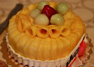 Mango cake that we got from a Chinese bakery in Markham Ontario