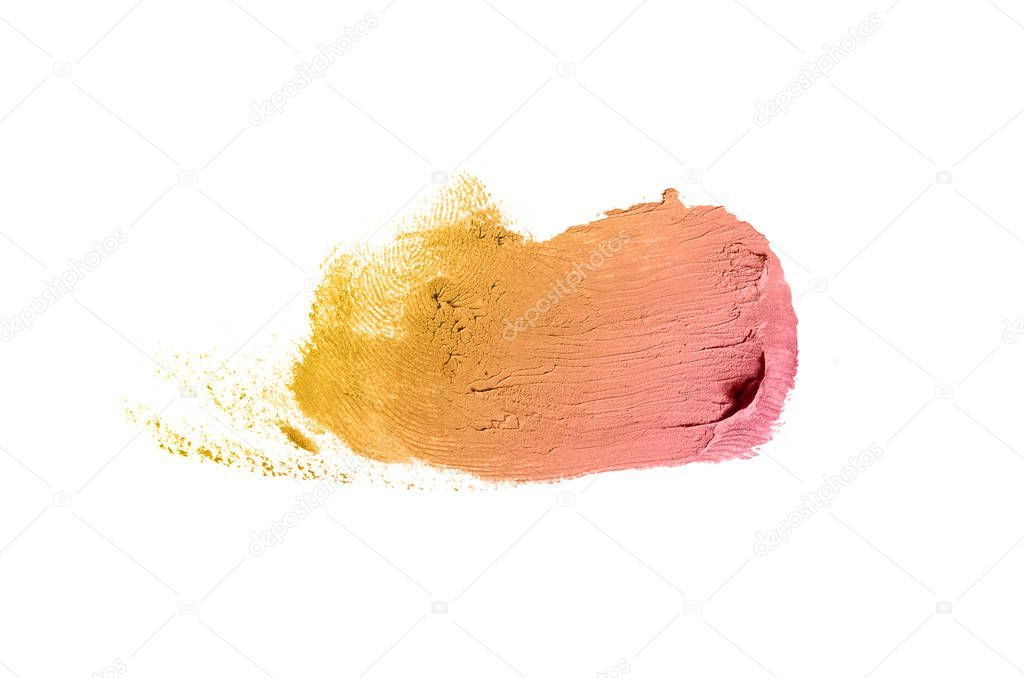 Photo of Smear and texture of lipstick or acrylic paint isolated on white – Stock , #spon…