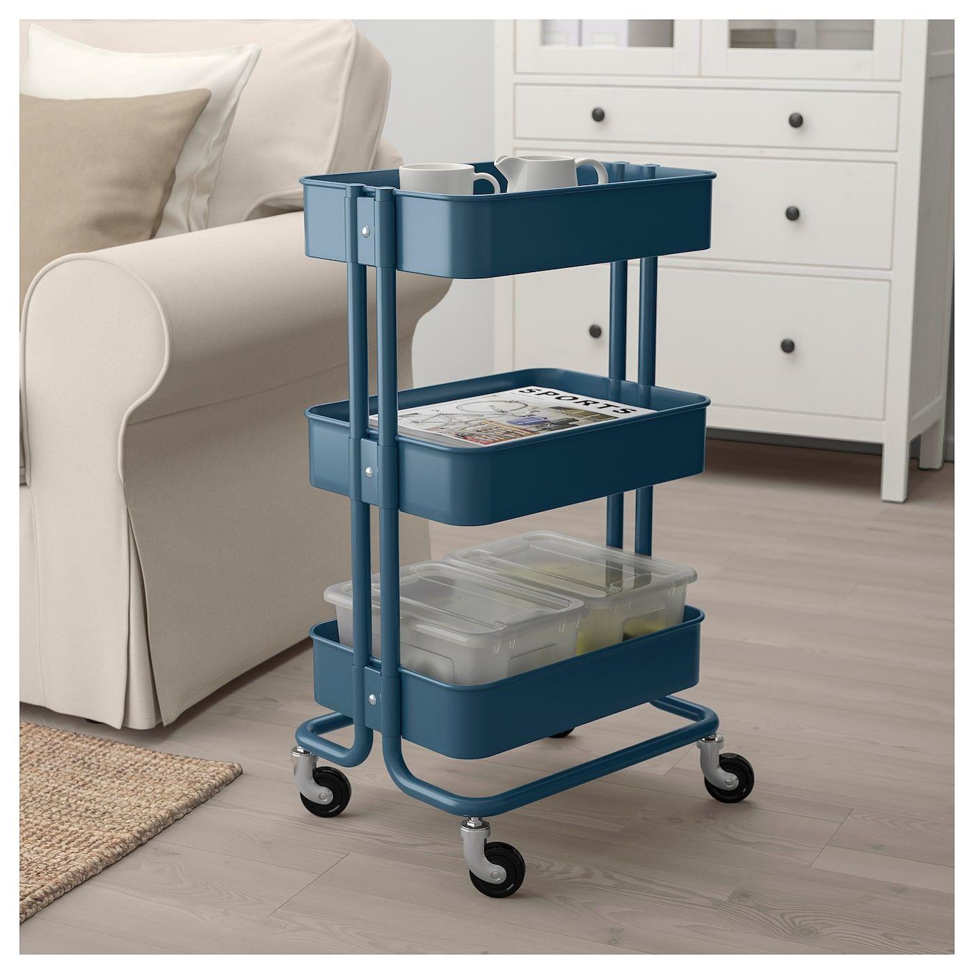 RÅSKOG Utility cart dark blue IKEA Utility cart