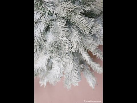 how to flock or snow spray a christmas tree wreath or garland youtube