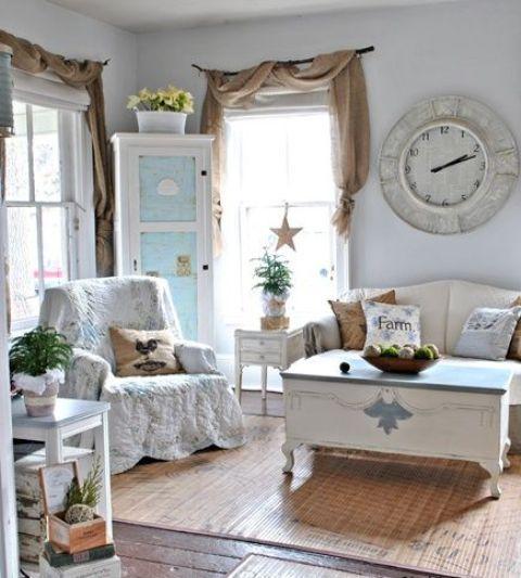 55 Simple And Elegant Rustic Farmhouse Living Room Decor Ideas