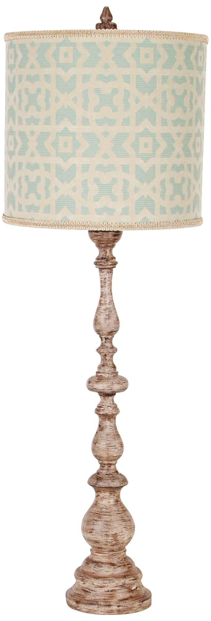 French buffet lamps - Maggiore Aged Tuscan White Baluster Buffet Lamp Lamps Plus