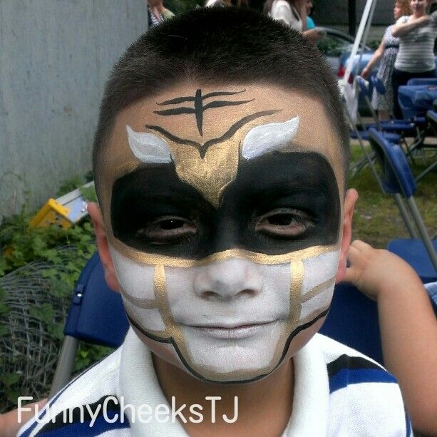Power Ranger Face Painting