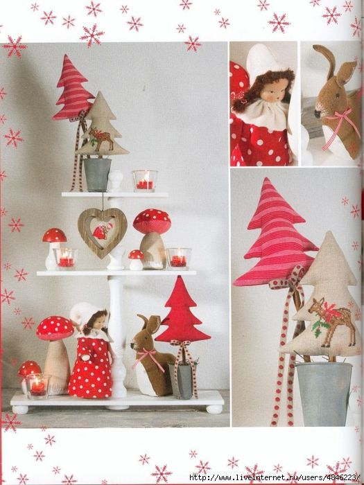arboles de navidad de tela