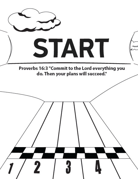 Starting Line Coloring Page | Summer Olympics Children\'s Ministry ...