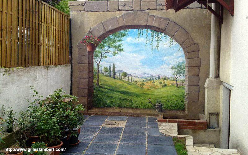 Decor peint facade scenery pinterest d cor et fa ades for Decoration facade fenetre