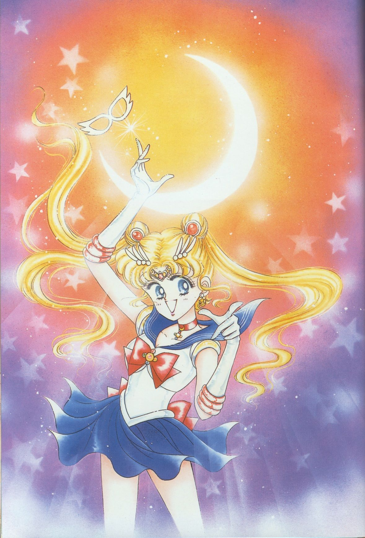 Sailor Moon Original illustration Art Book vol.1 1st Edition Pretty Soldier USED