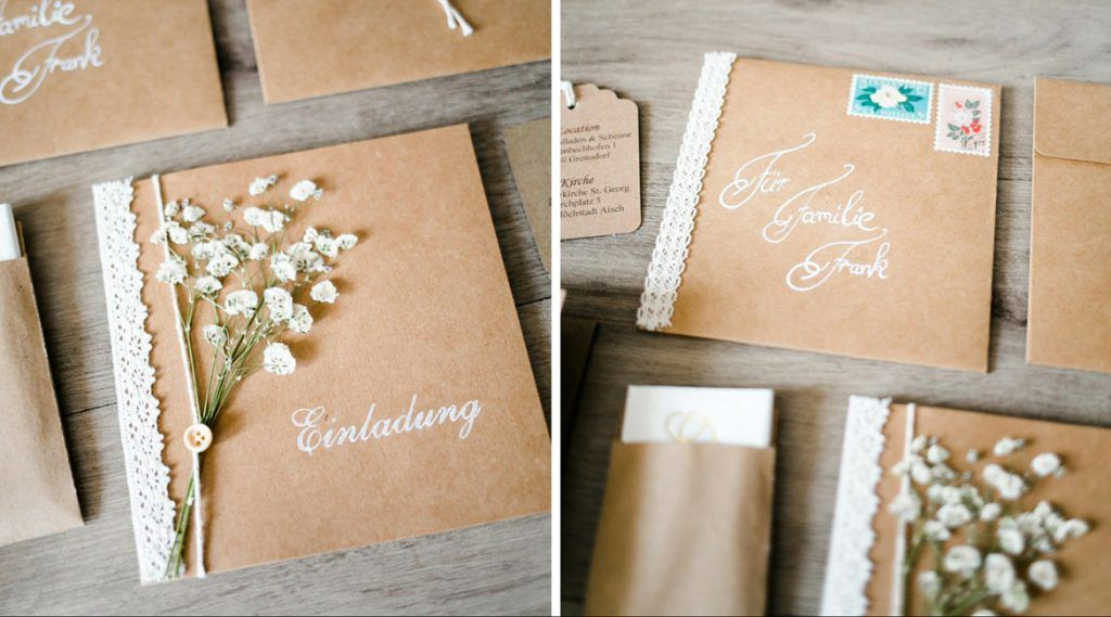 Vintage Einladungskarten fr Deine Hochzeit zum selber
