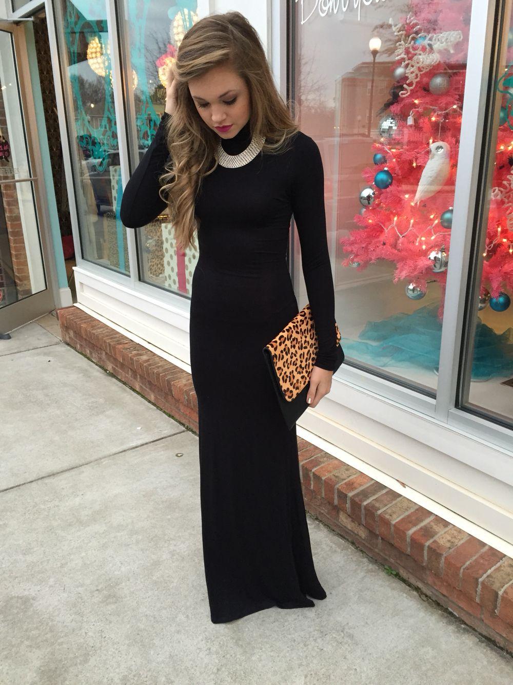 Black turtleneck maxi dress swoonboutique swoon swag pinterest
