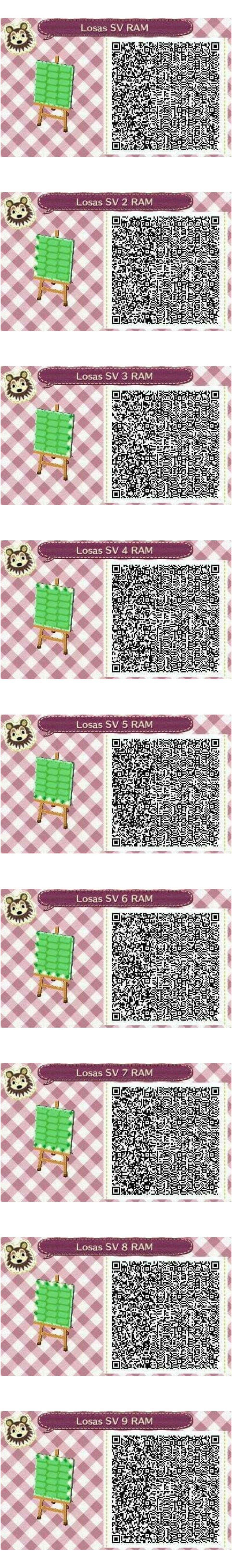 Este es un QR Code para Animal Crossing creado por mí misma. Como podéis observar es un suelo