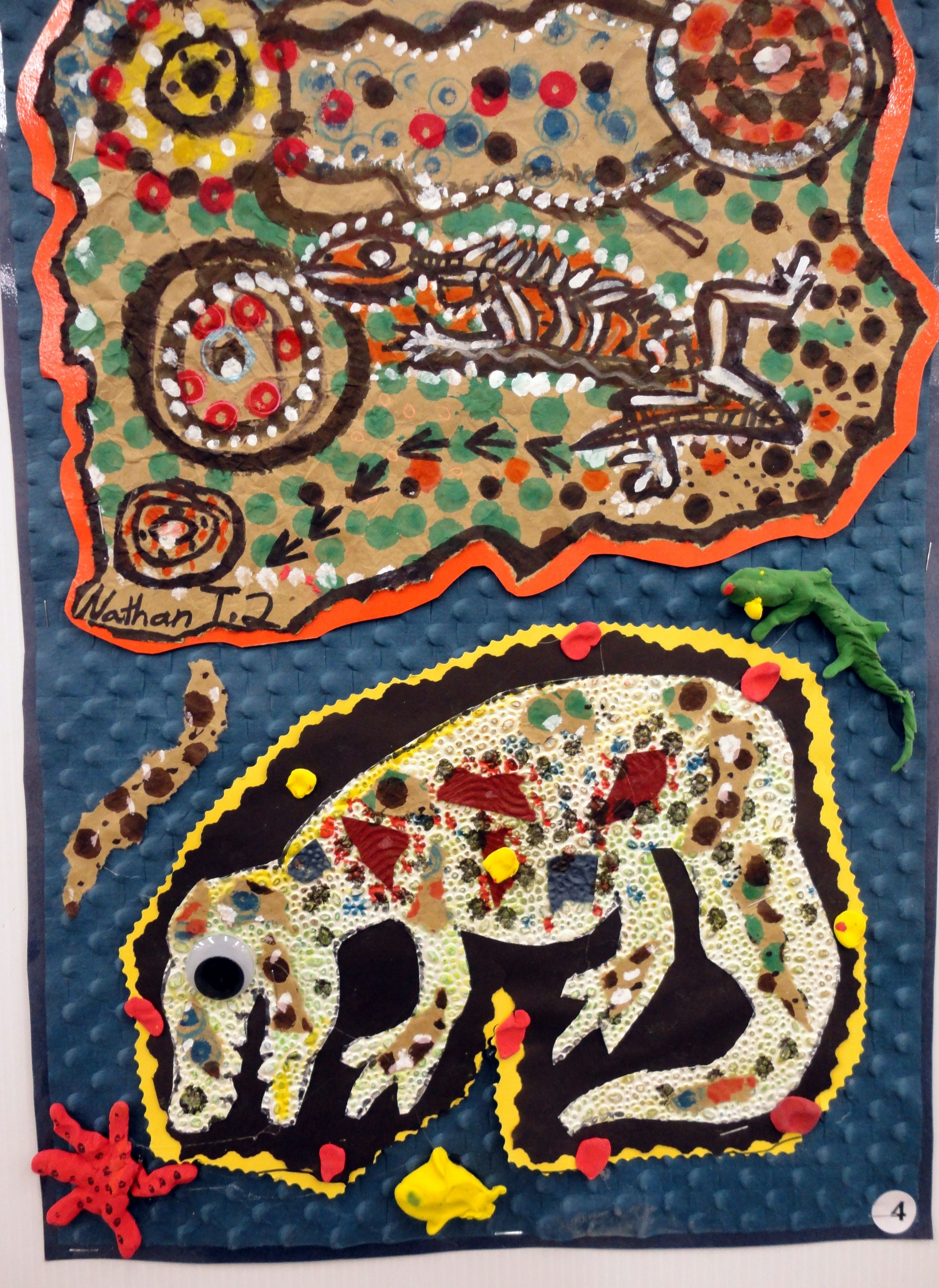 Textured Animal Art Sarita Gurung Birkey S 2nd Grade Art