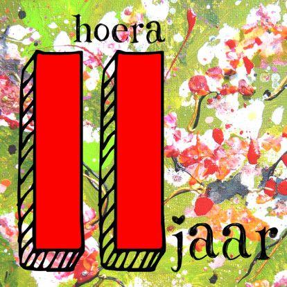 Verjaardagskaart 11 Jaar Meisje Verjaardagskaarten Kaartje2go