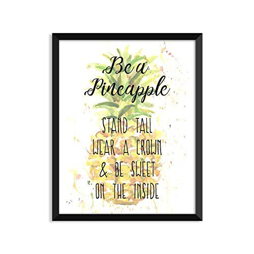 Be A Pineapple Inspirational Quote Minimalist Poster Home Decor ...