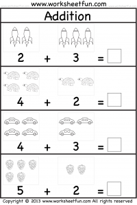 Picture Addition – Beginner Addition – Kindergarten Addition ...