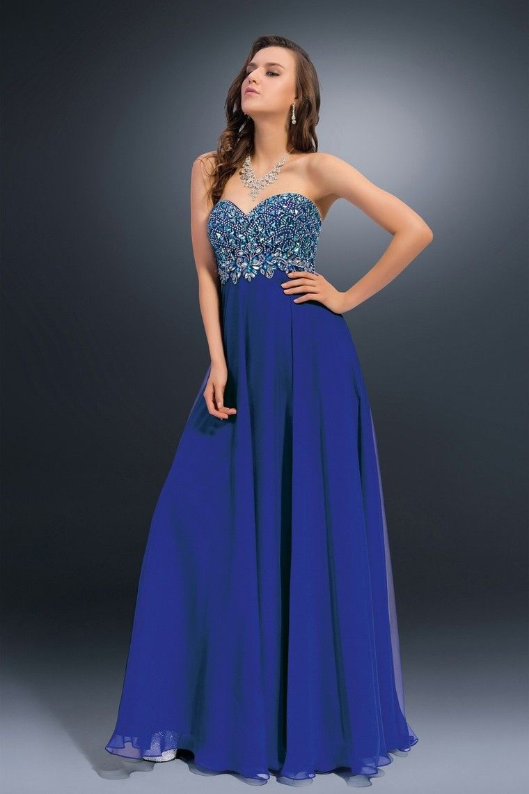 sweetheart beaded bodice a line full length with flowing