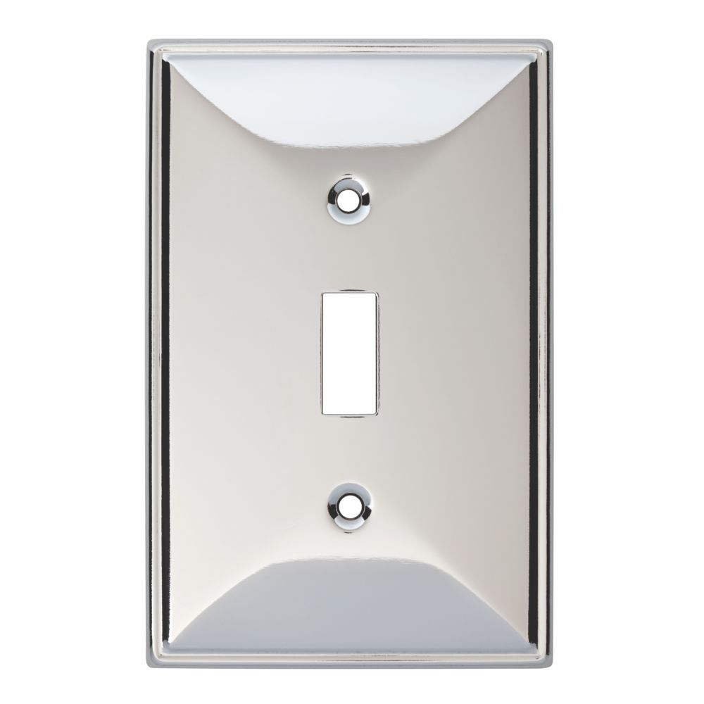 4 Brainerd 135873 Beverly Single Switch Wall Plate Light Switchplates Outlet Covers Plates Wallplates Cover Decorative