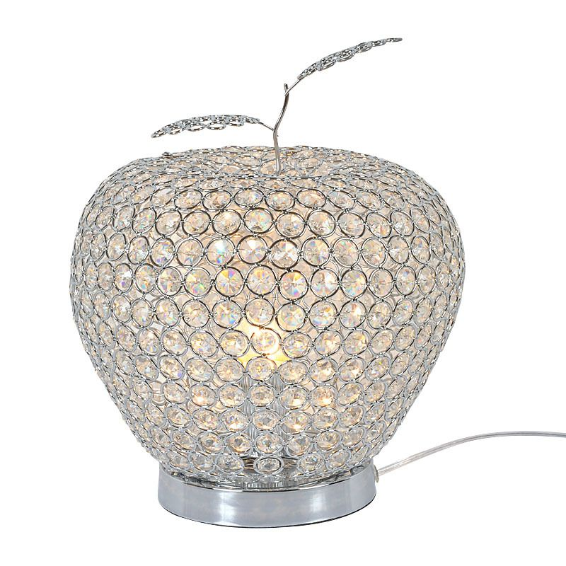 US 162.50 Modern Crystal Apple Bedroom Table Lamps