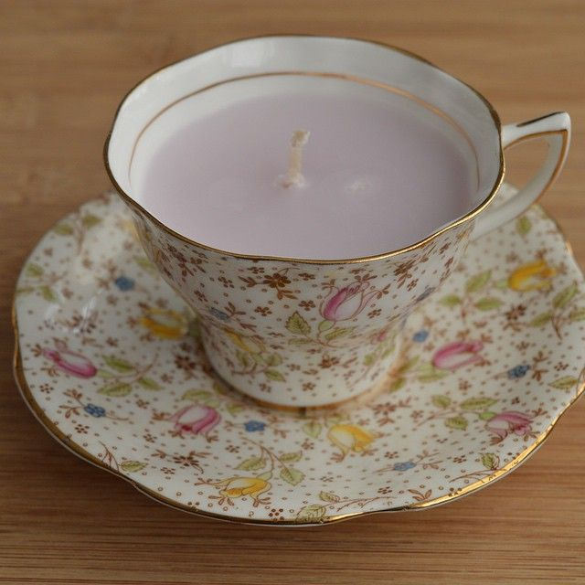 Tea cup candle. #Finery #homemade #candles #artisan