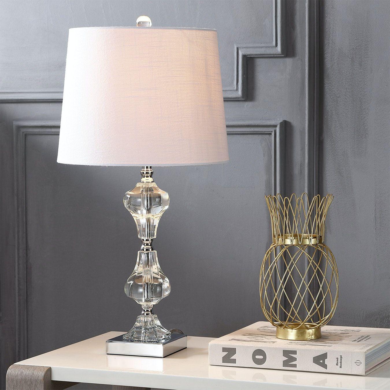 Chloe Led Table Lamp Clear Crystal In 2021 Crystal Table Lamps Table Lamp Led Table Lamp