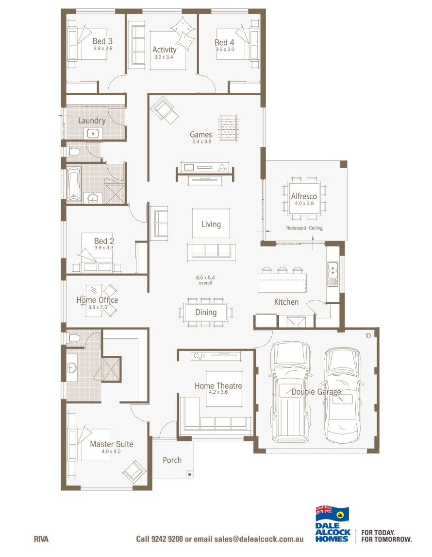 Riva By Dale Alcock Floor Plans Display Homes House Plans