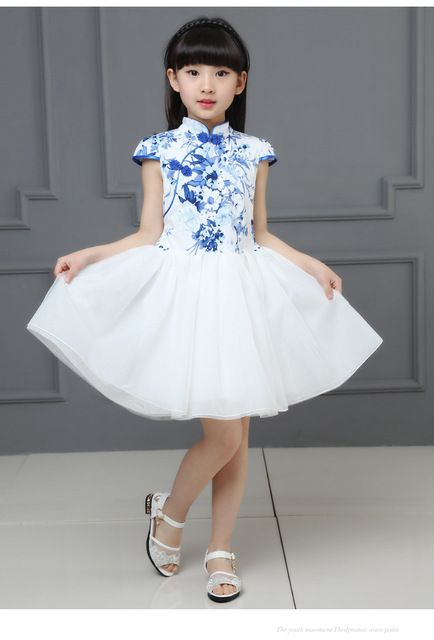 Traditional Chinese Ball Gown Cheongsam for Kids | WayAsian ...