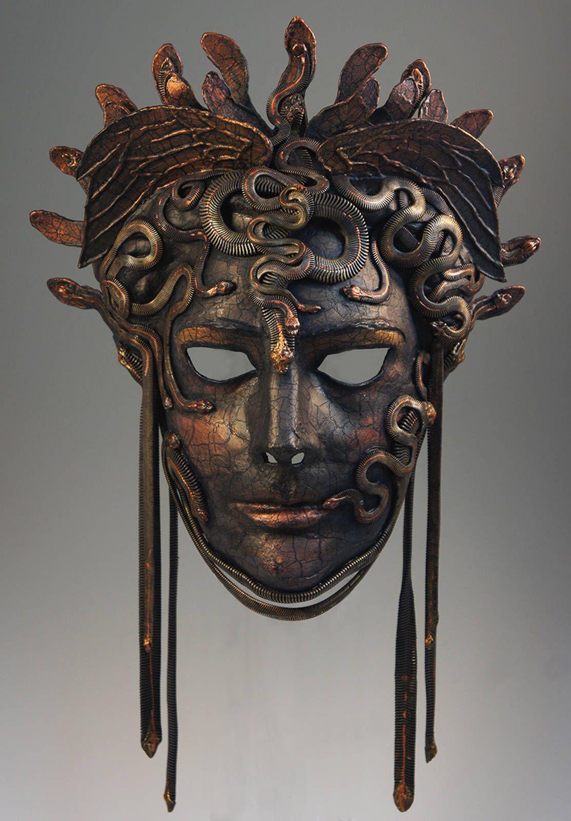 Bronze Medusa Mask