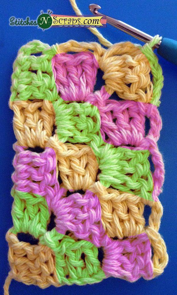 Tutorial - Diagonal Box Stitch #crochetstitchestutorial