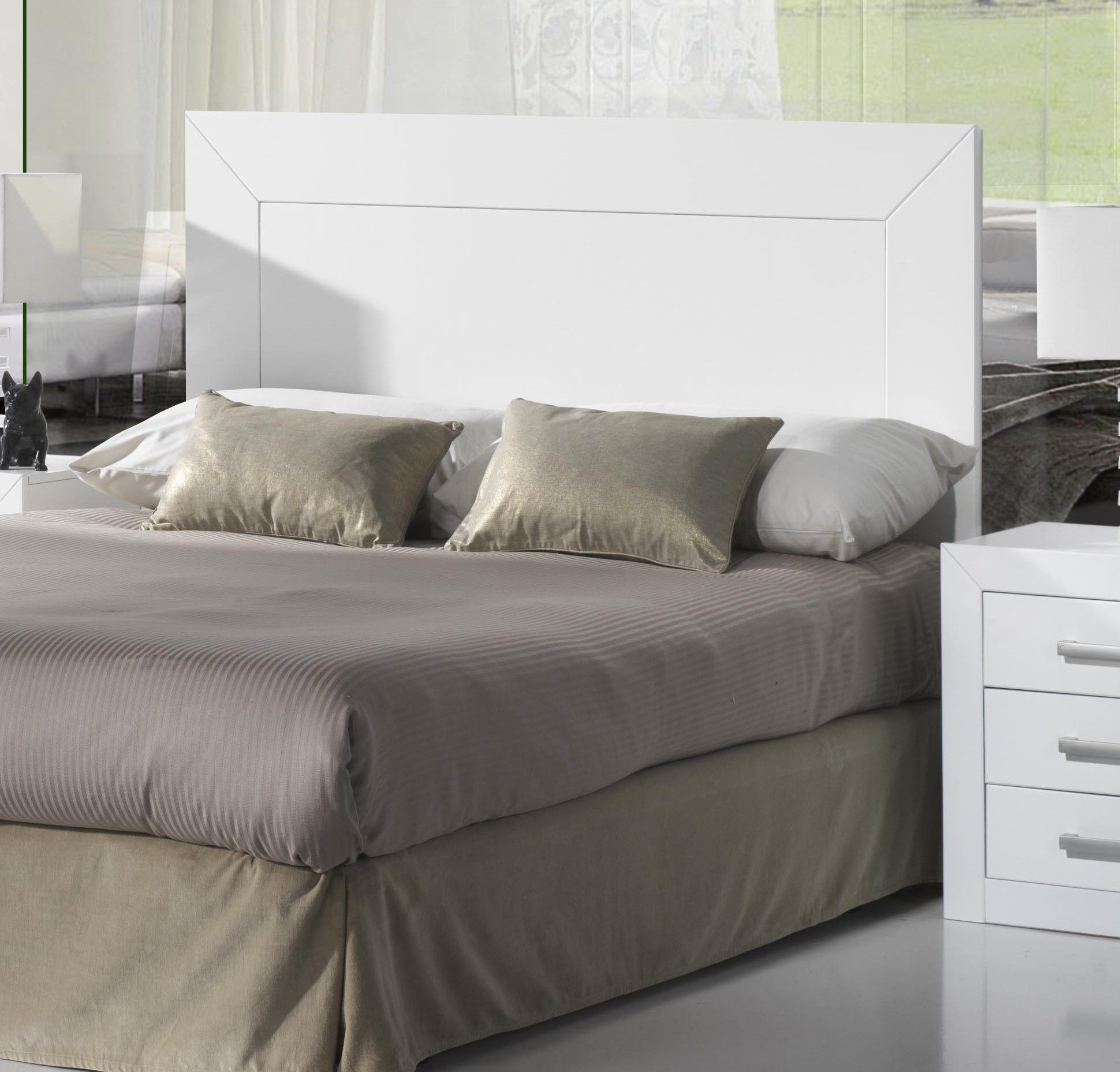 Cabecero De 135cm Fabricado En Mdf Color Lacado Blanco Se Trata  # Muebles Lufe Instrucciones
