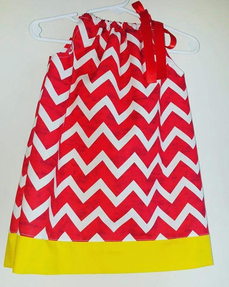 6/9 month red chevron pillowcase dress. $10 ://m.