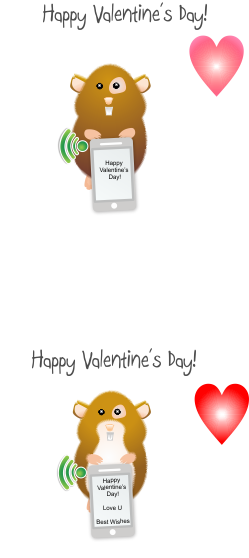 Hamster Texting Valentines Day Cards  Valentines Day Ideas