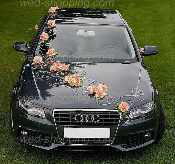 Wedding Car Decoration Idea Inspirational Black Audi Wedding Car Decor with Flow...,  Wedding Car D