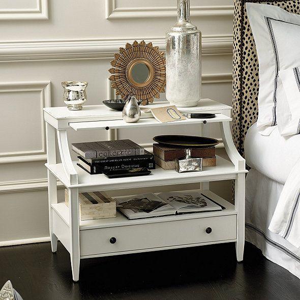 Sidney Open Side Table Ballard Designs White Tables Bedside Design